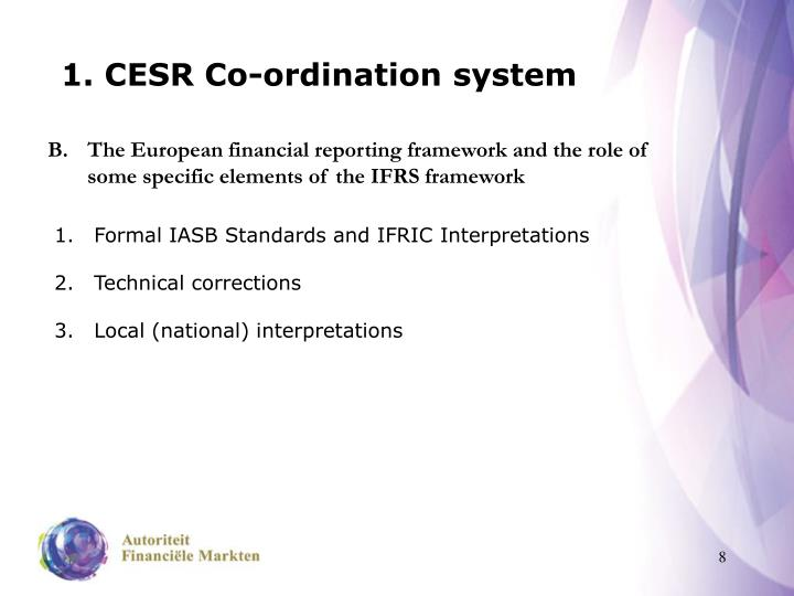 1. CESR Co-ordination system