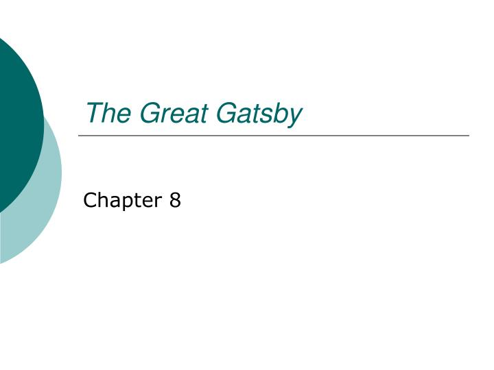 the great gtsby a presentation essay