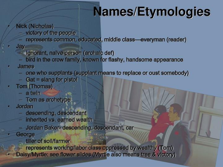 Names/Etymologies