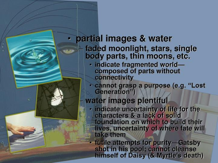 partial images & water