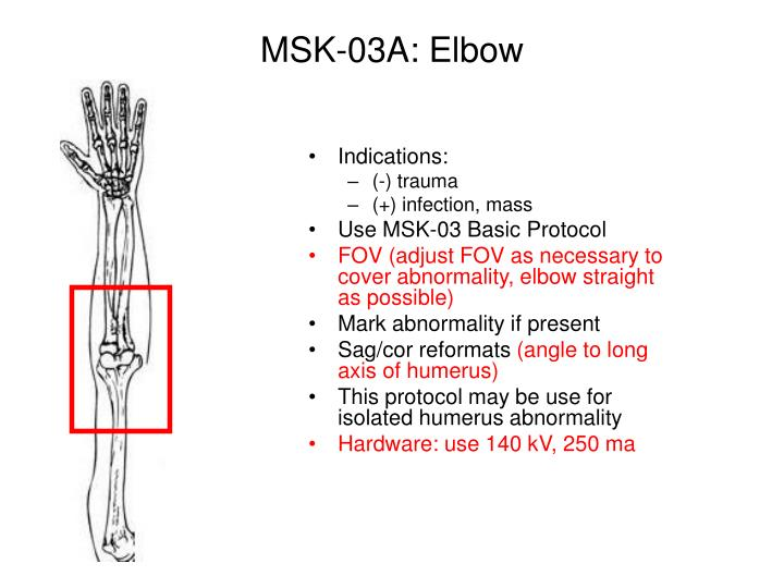 MSK-03A: Elbow