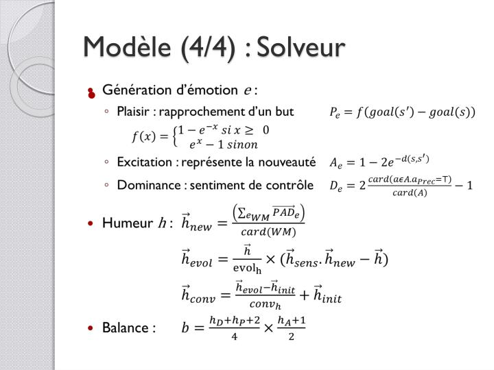Modèle (4/4) : Solveur