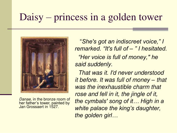 Daisy – princess in a golden tower