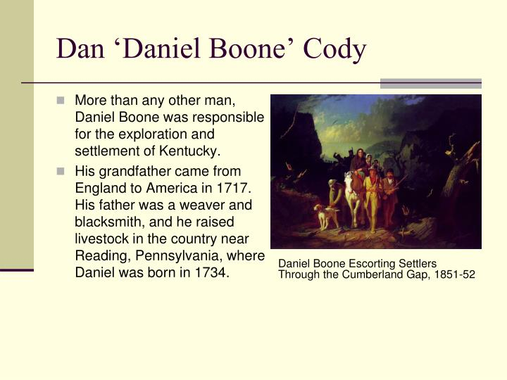 Daniel Boone Escorting Settlers Through the Cumberland Gap, 1851-52