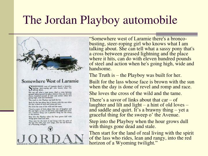 The Jordan Playboy automobile