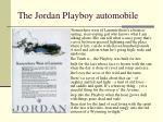the jordan playboy automobile