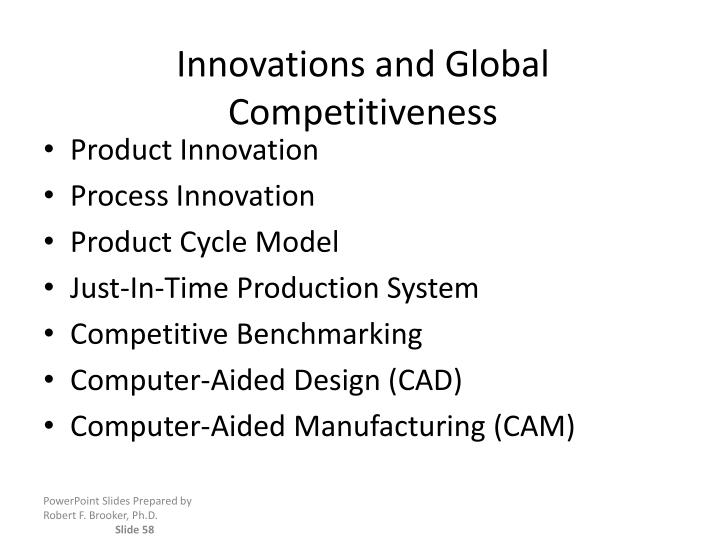 Innovations and Global Competitiveness