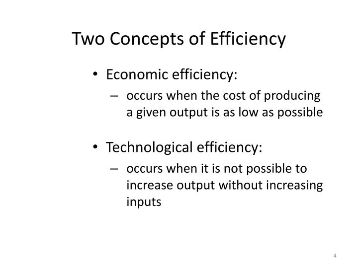 Two Concepts of Efficiency
