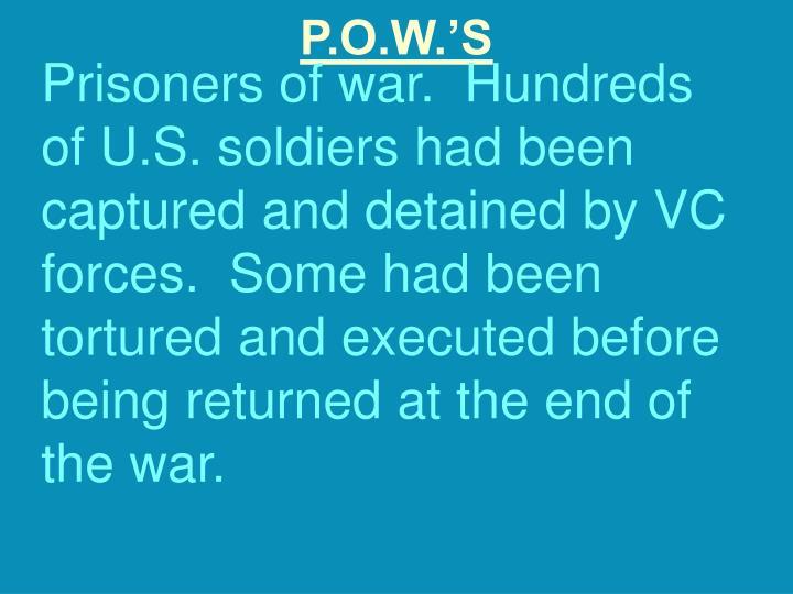 P.O.W.'S