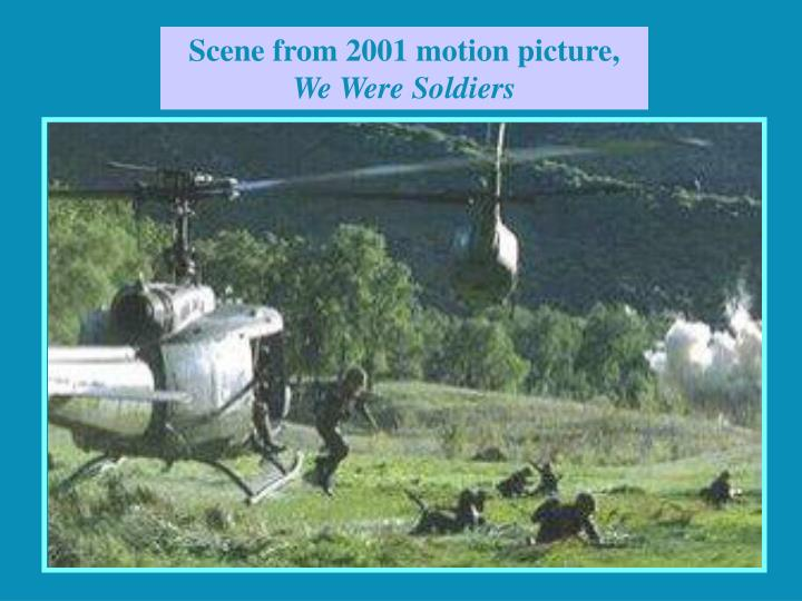 Scene from 2001 motion picture,
