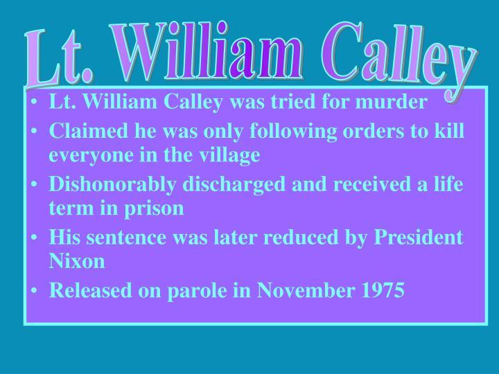 Lt. William Calley