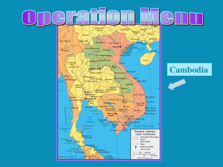 Operation Menu
