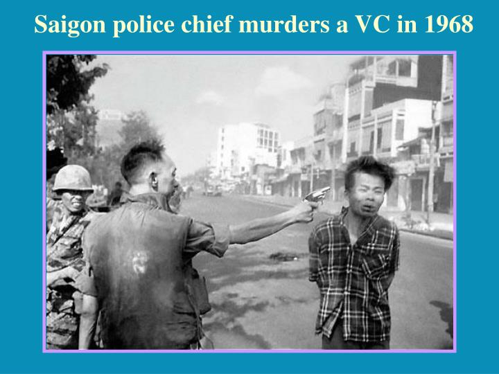 Saigon police chief murders a VC in 1968