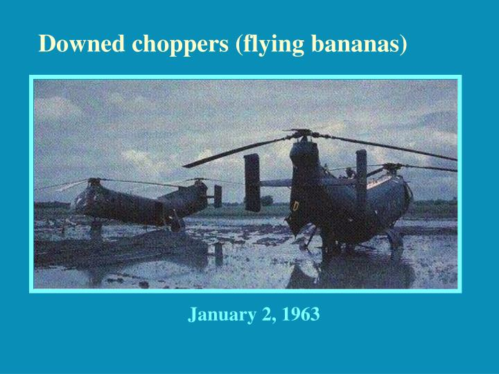 Downed choppers (flying bananas)