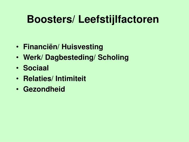 Boosters/ Leefstijlfactoren