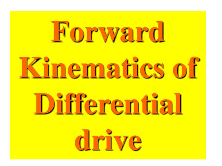 Forward Kinematics of Differential drive