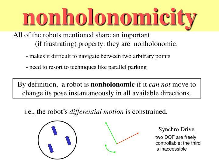 nonholonomicity