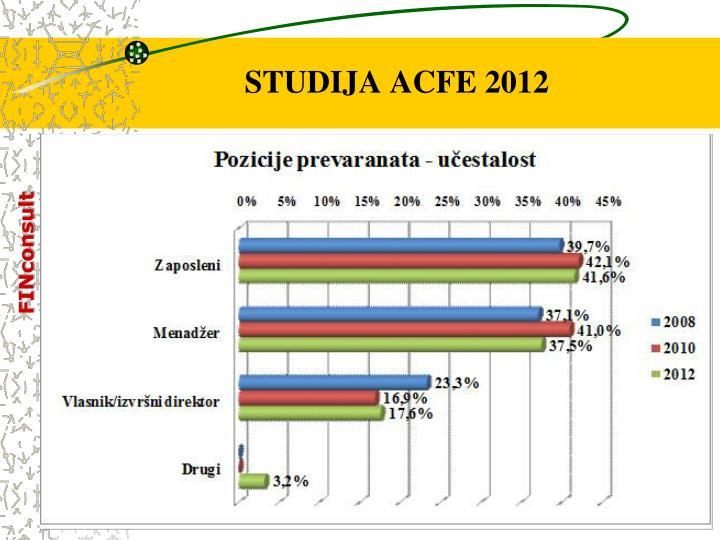 STUDIJA ACFE 2012