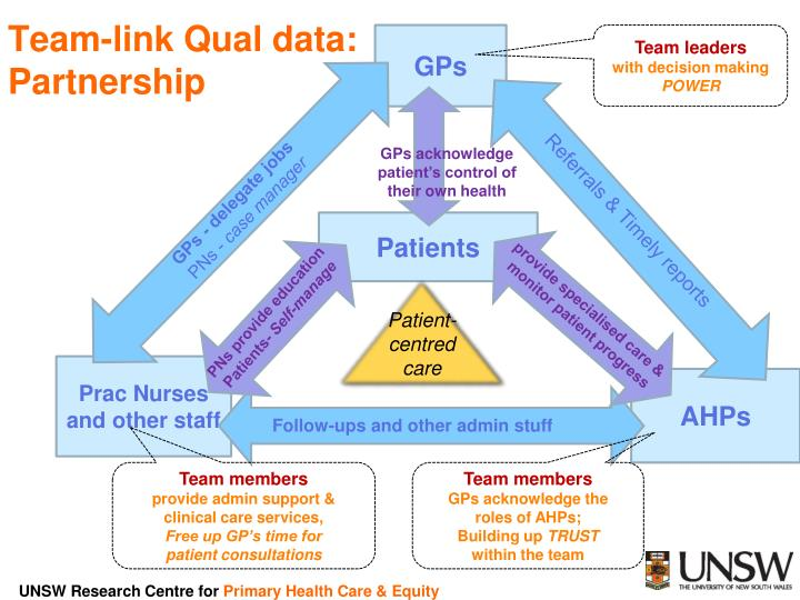 Team-link Qual data: Partnership