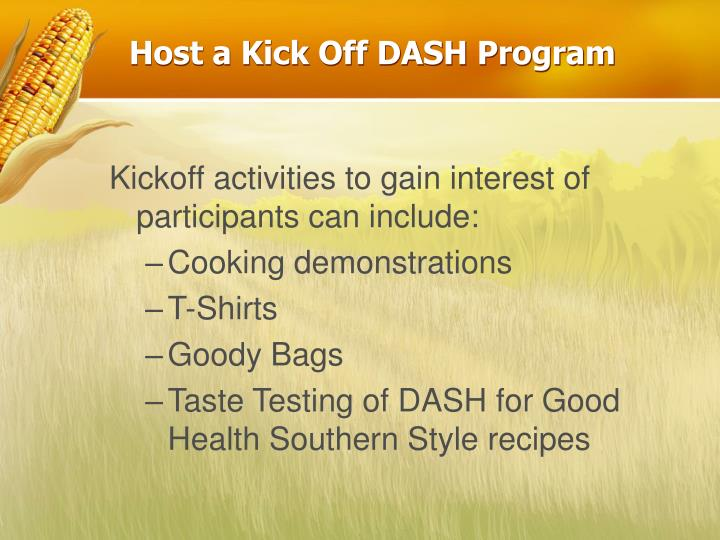 Host a Kick Off DASH Program