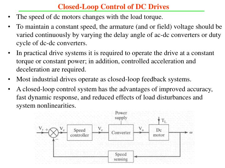 Closed-Loop Control of DC Drives