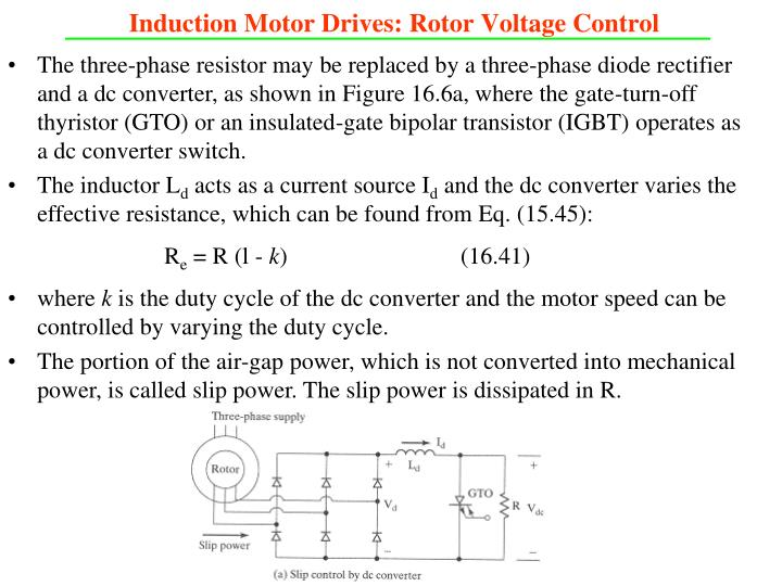 Induction Motor Drives: Rotor Voltage Control