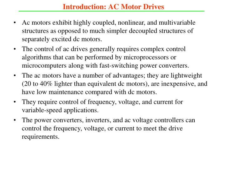 Introduction: AC Motor Drives