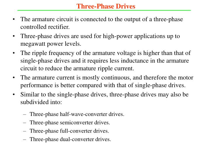Three-Phase Drives