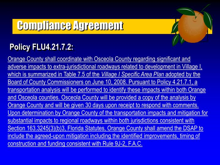 Compliance Agreement