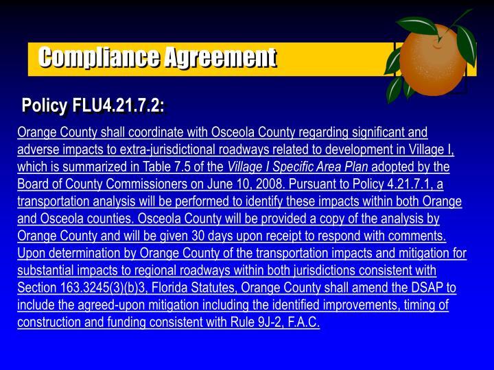 Compliance Agreement