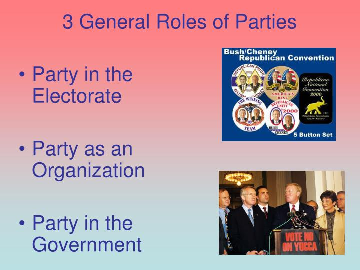 3 General Roles of Parties