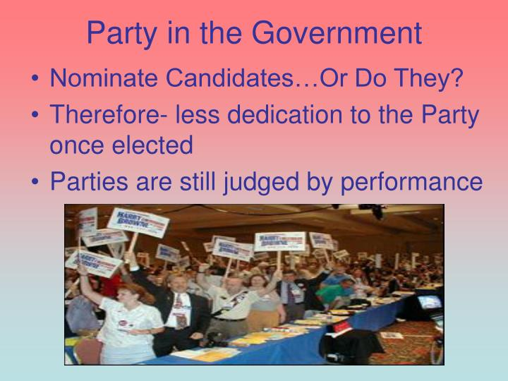 Party in the Government
