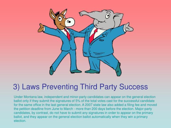 3) Laws Preventing Third Party Success