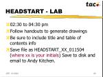 headstart lab