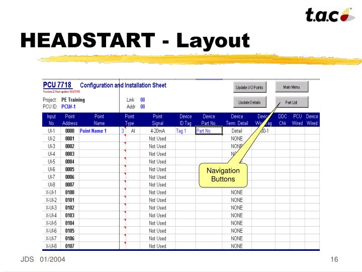 HEADSTART - Layout