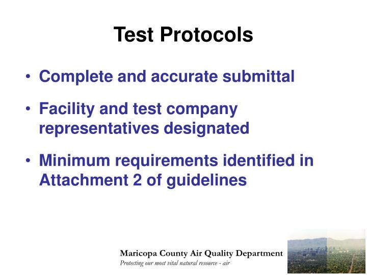 Test Protocols