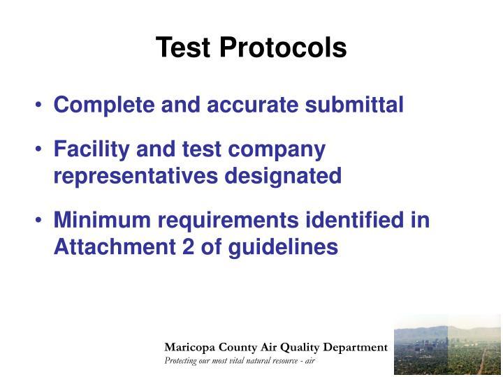 Test Protocols