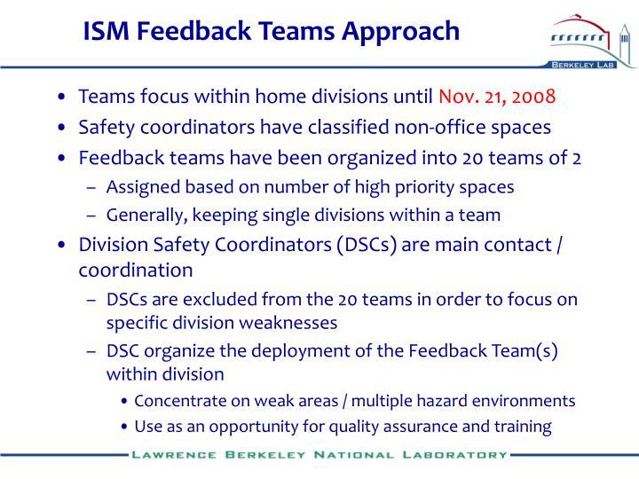 ISM Feedback Teams Approach