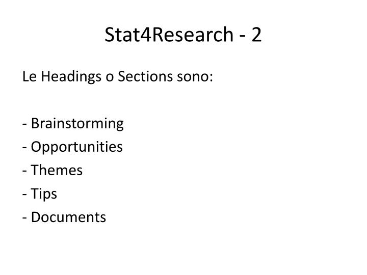 Stat4Research - 2