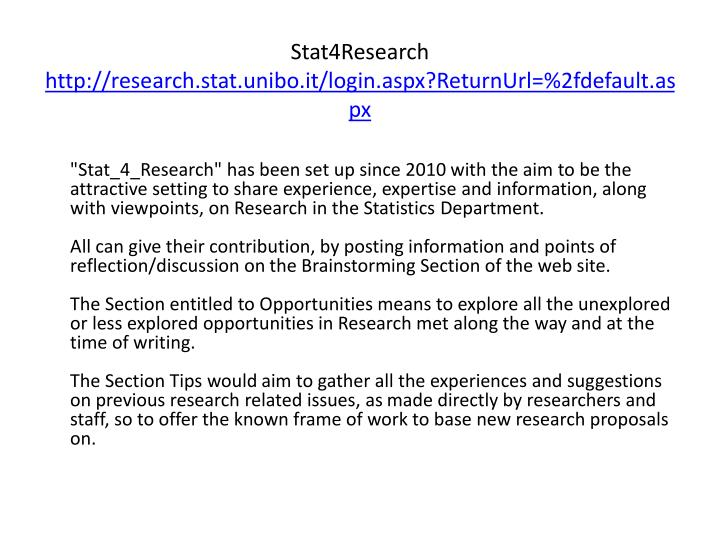 Stat4Research