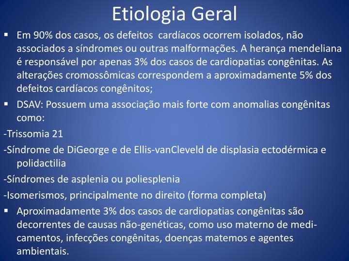 Etiologia Geral
