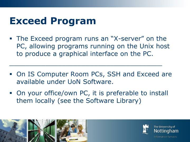 Exceed Program