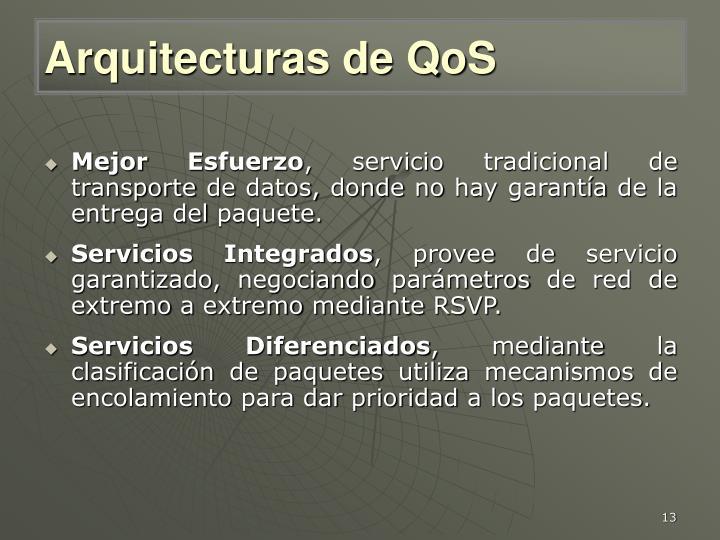 Arquitecturas de QoS
