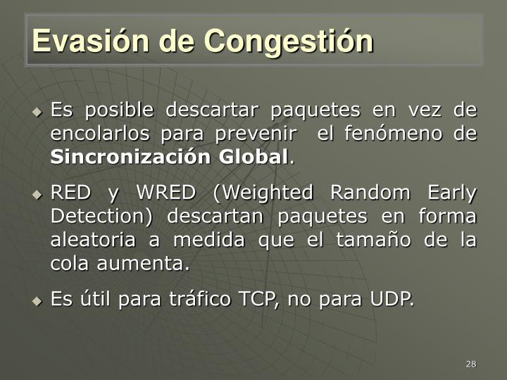 Evasión de Congestión