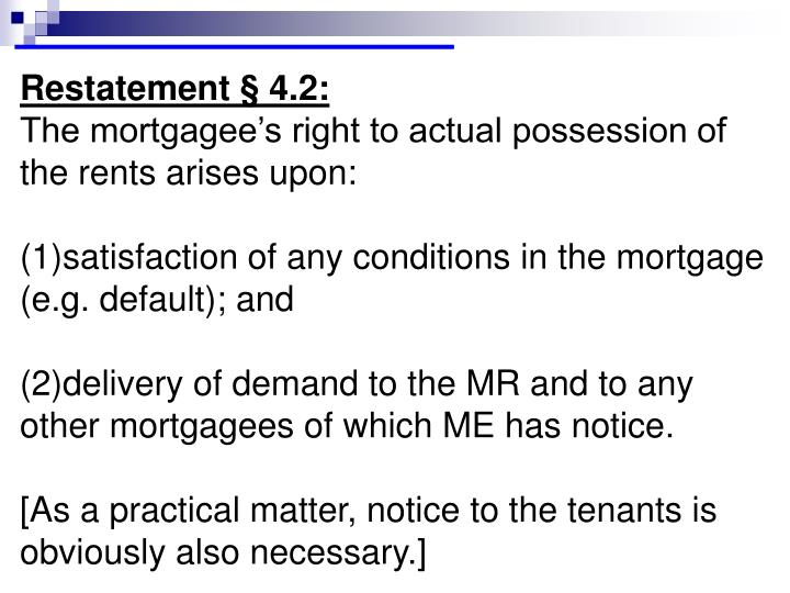 Restatement § 4.2: