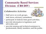 community based services division cbs div2