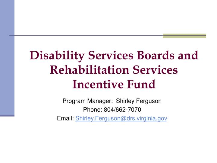 Disability Services Boards and