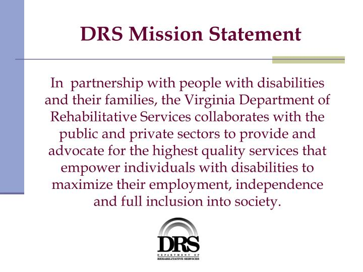 Drs mission statement