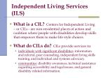 independent living services ils