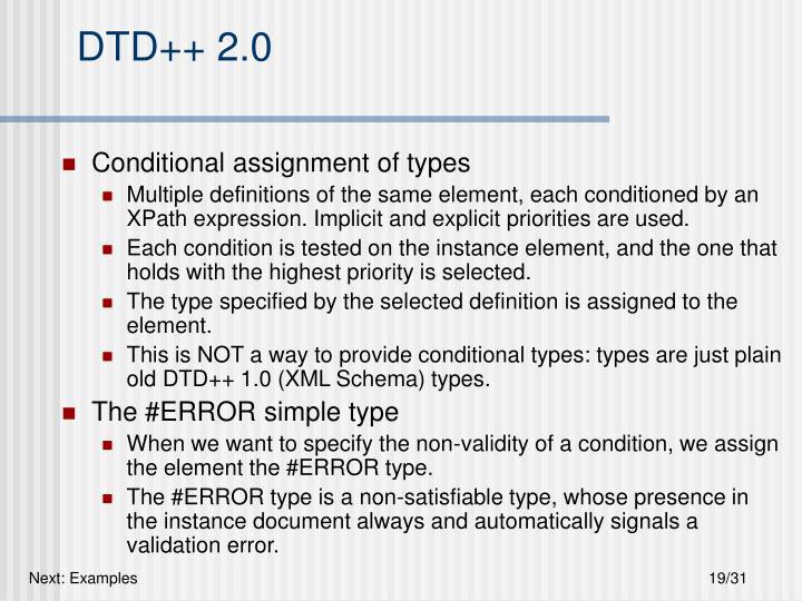 DTD++ 2.0